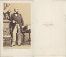 Disdéri, Paris, homme au chapeau Vintage CDV albumen carte de visite CDV, tira