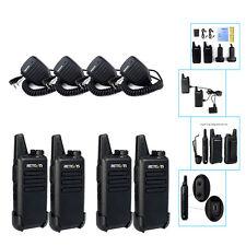4×Mic+4× Walkie Talkie Retevis RT22 2W UHF400-480MHz 16CH VOX TOT 2Way Radio US