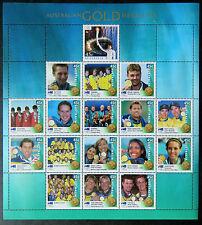 Australian Stamps: Sydney Olympics 2000-Australian Gold Medallists Sheetlet MNH