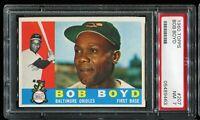 1960 Topps Baseball #207 BOB BOYD Baltimore Orioles UER ERROR PSA 7 NM