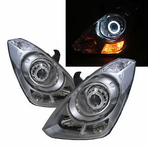 Grand Starex TQ MK2 07-17 Guide LED Angel-Eye Headlight Silver for HYUNDAI LHD