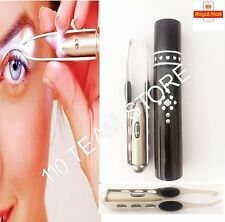 Stainless Steel Make Up Eyelash Eyebrow Hair Removal Tweezer With LED Light