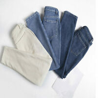 Women Fleece Lined Pants Harem Denim Jeans Long Trousers Thermal Warm Thick New