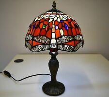 ANTIQUE TIFFANY STYLE STAINED GLASS TABLE DESK BEDSIDE LAMP HOME DECORATION UK