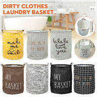 Dirty Clothes Storage Bag Laundry Hamper Basket Washing Bin Foldable Household