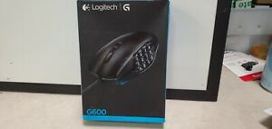 FACTORY SEALED LOGITECH G600 MMO WIRED OPTICAL GAMING MOUSE  ERGONOMIC