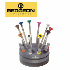 Bergeon 30081-s10 Rotating Stand With 10 Screwdriver Set Lightly