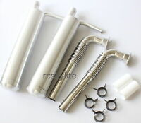 DLE111/DA100 RC Plane Gas Engine Aluminum Pit Exhaust Muffler Twin Canister Set