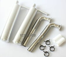 DLE111/DA100 RC Plane Gas Engine Alumimun Pit Exhaust Muffler Twin Canister Set