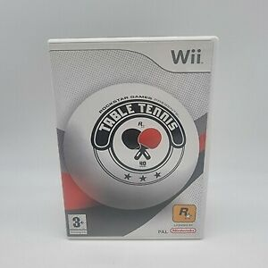 Nintendo Wii Rockstar Presents Table Tennis PEGI 3+ PAL Complete With Manual