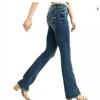 "American Eagle Womens Slim Boot Stretch Jeans Size 2 Long Dark Wash 26"" X 34"""