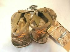 Realtree Outdoor Footwear - Toddler Boys Camo Thongs Flip Flops Small 5 - 6 NWT