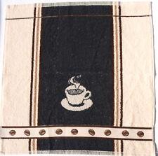 2x Toallas café de rizo Café Expreso KRACHT Cocina Pañuelos Frotar GRIS BEIGE