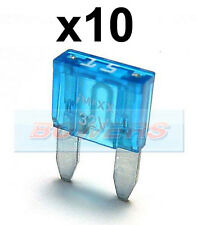 PACK OF 10 12V 24V VOLT 15A AMP BLUE MINI BLADE FUSES KIT CAR VAN MARINE