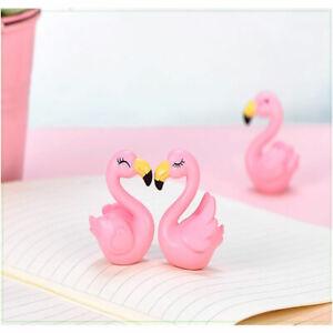 1Pair Resin Flamingo Miniature Landscape Bonsai Meaty Decoration Garden GiftBDA
