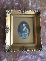 Vintage Ornate Gold Frame Pictures Victorian Lady