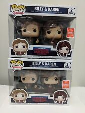 Funko Pop! Billy and Karen Stranger Things 2-Pack 2018 SDCC EXCLUSIVE IN HAND