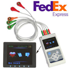 CONTEC 3 Channel Leads ECG/EKG Holter Monitor Heart Disease Cardiology Analyzer