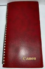 Vintage 1970's Canon Red Photo Album Hardcover Binder Book Holds 96 Picture 7x11