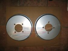 Pair of Brushed Stainless Brake Drum Covers for MGB Tube Axle 1968-1980
