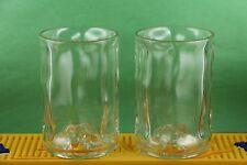 FINLANDIA  VODKA GLASS SET OF 2 MADE FROM ORIGINAL 1 LITER BOTTLES