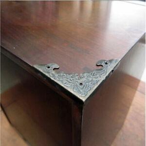 12x Corner Protector Brass Desk Table Corner Guard Wooden Box Decor New Hot