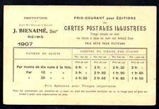 CPA  --  CARTES J BIENAIME * REIMS * TARIF 1907 / PONT SUR LA MARNE  605.D***