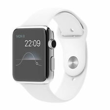 Apple Watch 42mm Stainless Steel Case White Sport Band - Used