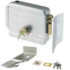 Serrure électrique verticale YALE 68060 ambidextre 12V avec gâche pour sol