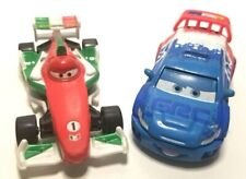 Lot of 2 - Disney Pixar Cars 2 Raoul CaRoule & Francesco Bernoulli Race Cars