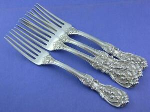 4 Sterling REED & BARTON Luncheon Forks FRANCIS I old mark pat 1907 no mono