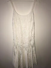New Ralph Lauren blue label off-white Hand-Embroidered Lace Dress size 8 US $998
