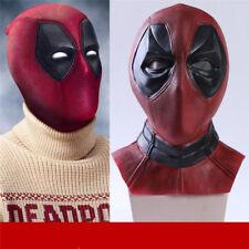 Marvel Deadpool Mask Breathable Full Face Halloween Cosplay Prop Hood Helmet