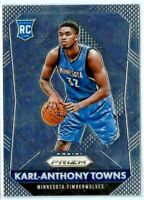 2015-16 Panini Prizm Card #328 Karl Anthony Towns Rookie RC Timberwolves INVEST