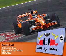 Decals 1/43 - F1 - Giedo vd Garde - Spyker Ferrari F8 VII - Test 2007