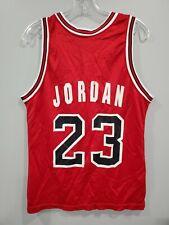 Rare Vintage 90s Chicago Bulls MICHAEL JORDAN 23 Red Champion Jersey Men 40 M
