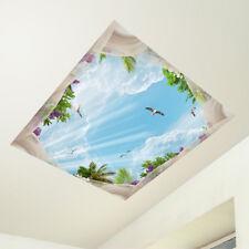 CD0028 Adesivo murale Arredo Casa Wall Art Soffitto giardino tropicale 60x60 cm