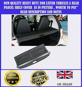 NEW SMART FORTWO W451 2007-2014 PARCEL SHELF BOOT LOAD COVER BLACK BOXED
