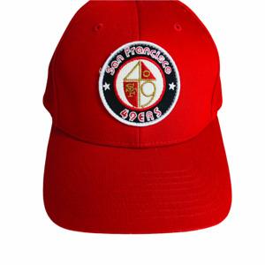 Vintage San Francisco 49ers Spellout Strapback Hat Cap Reebok Gridiron Classic