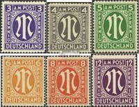 Bizone (Alliierte Besetzung) 10-15 (kompl.Ausg.) postfrisch 1945 AM-Post