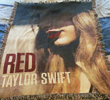 """Taylor Swift Red Album Cover Tapestry Blanket Decorative Throw Fringe 55""""x45"""""""