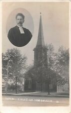 Ohio real photo postcard Woodville Lutheran Church ca 1910