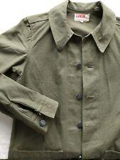 EDWIN western finest blue jeans military jacket US reg pat vintage deadstock S
