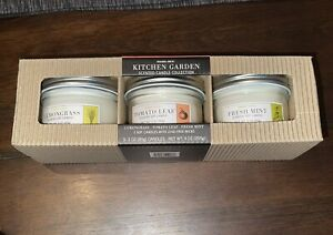 NEW in Box - Trader Joe's Kitchen Garden Scented Candle Tin Trio Limited