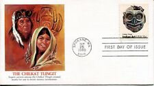 1980 INDIAN ART HEAD MASKS THIS IS BY THE CHILKAT TRIBE FLEETWOOD UNADDR  FDC