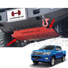 Skid Plate Under Front Bumper Guard Hamer Red 1Pc Fits Toyota Hilux Revo 15 - 17