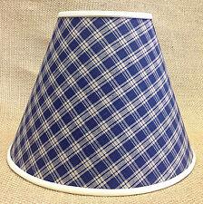 Set of 2 Navy Homespun Handmade Lamp shade Lampshade