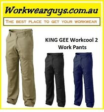 KING GEE ( Workcool 2 - Style) Pants - Navy, Khaki, Black - WORKWEAR K13820