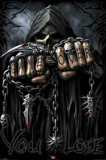 Spiral Game Over Poster Grime Reaper Dark Death Chains New Never Hung