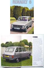 Renault 6 L TL 1975-76 Original UK Market Brochure